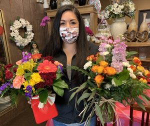 Claudia Narvaez at Barone's Westlakes Balloons and Gifts in Hollister. Photo by Robert Eliason.