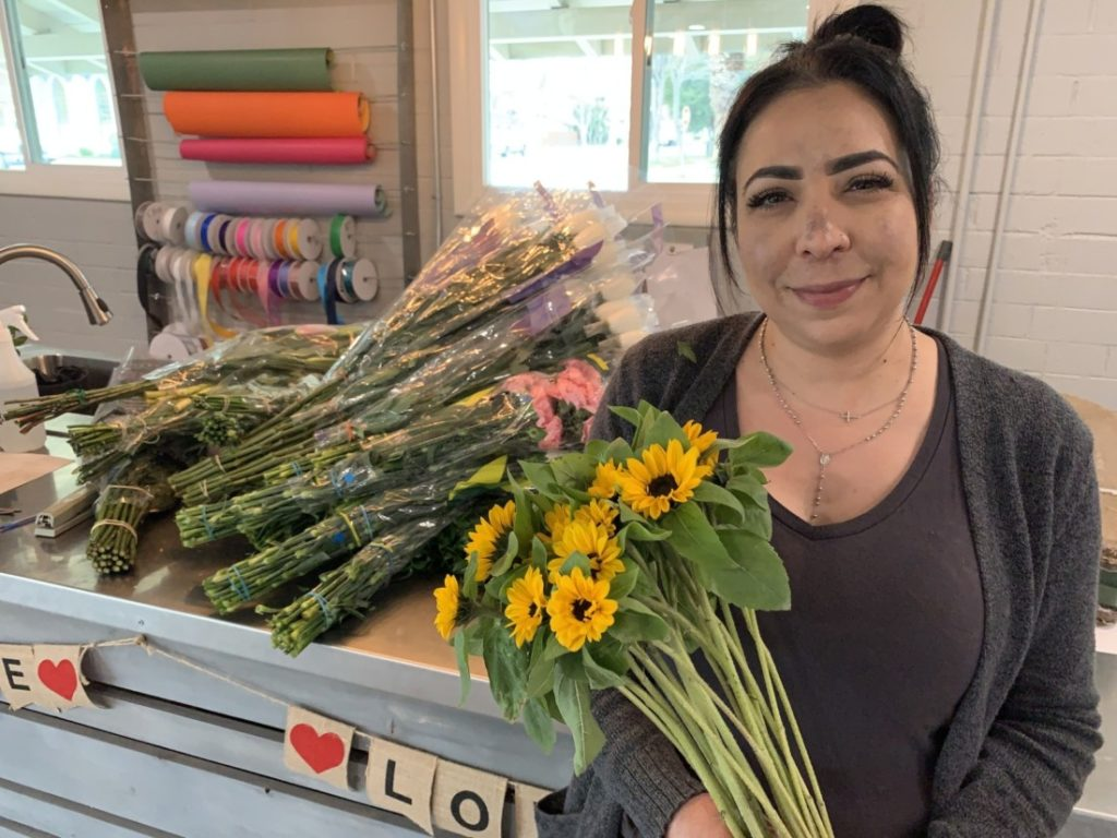 Jeanette Melita, owner of Moments Flower Shop in Hollister. Photo by Robert Eliason.
