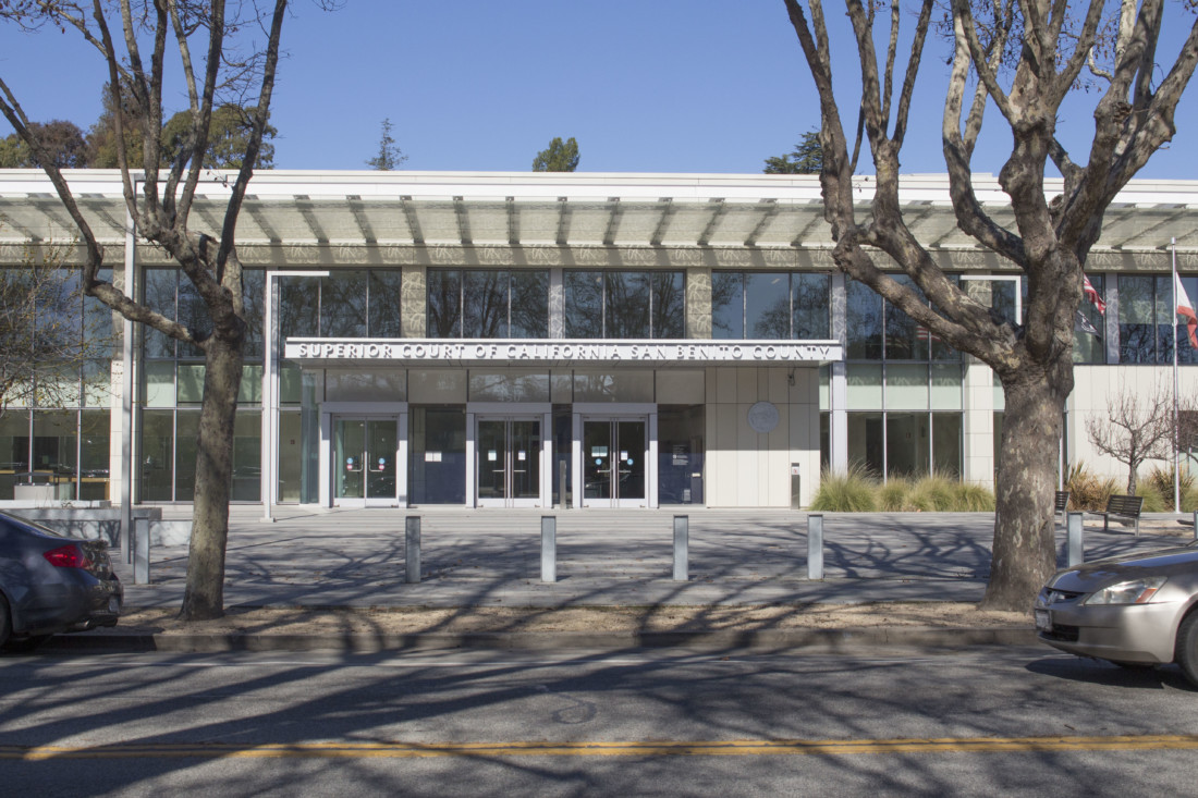 Superior Court of San Benito County. File Photo by Noe Magaña.