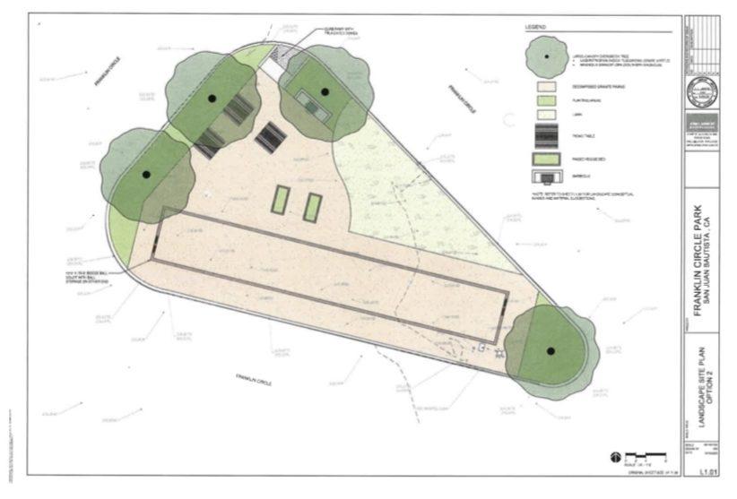 Design of Franklin Circle Park in San Juan Bautista. Image courtesy of Rochelle Eagen.