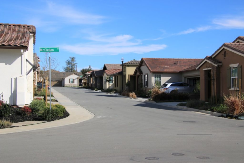 There are only a couple dozen homes completed at Twin Oaks, with a goal of 170. Photo by John Chadwell.