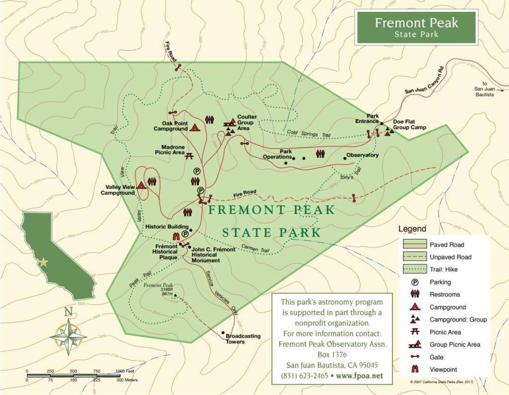 Fremont Peak. Image courtesy of Fremont Peak State Park.