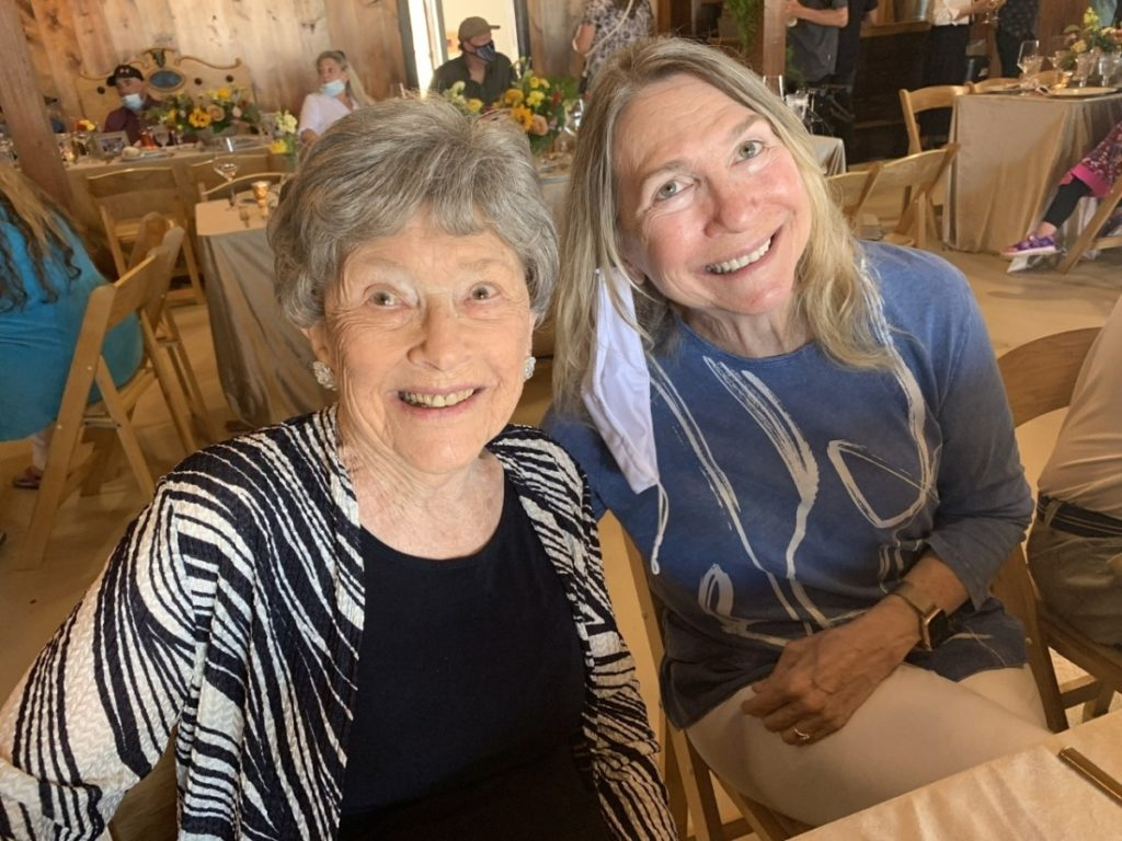 Bonnie's mother, Marian Hanner, and Jan McCleery. Photo by Robert Eliason.