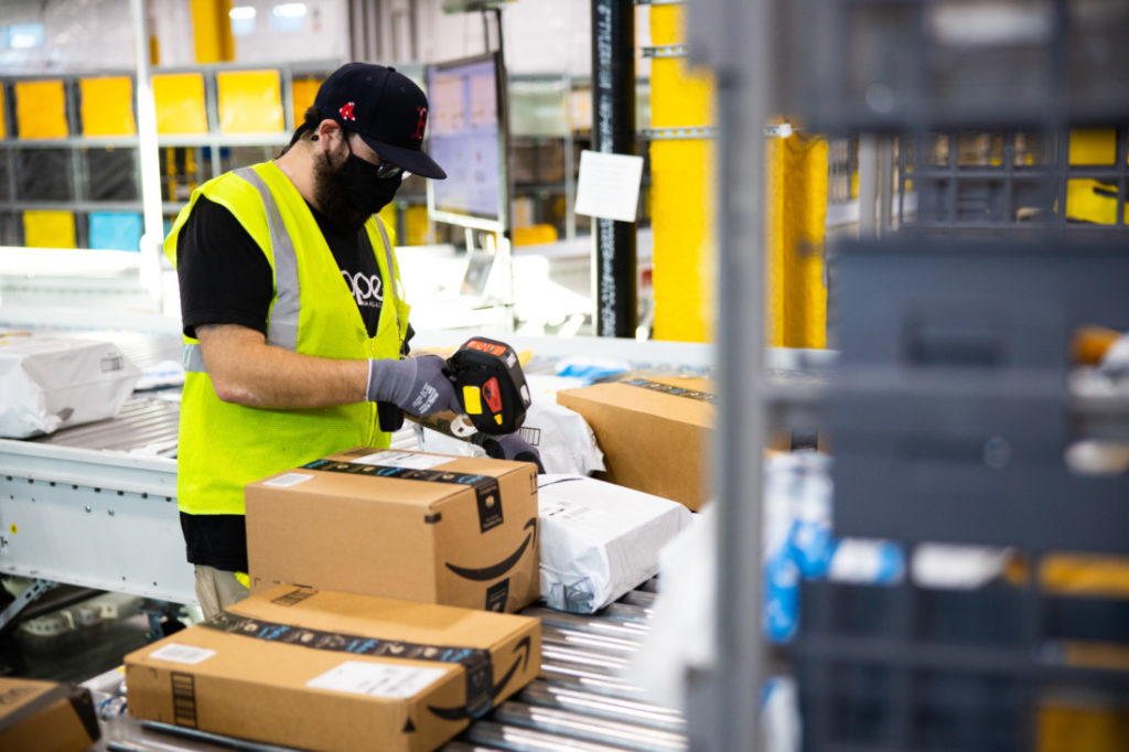 When the new Hollister Amazon facility opens in September, it's expected to provide several hundred jobs in administration, shipping and delivery. Photo courtesy of Amazon.