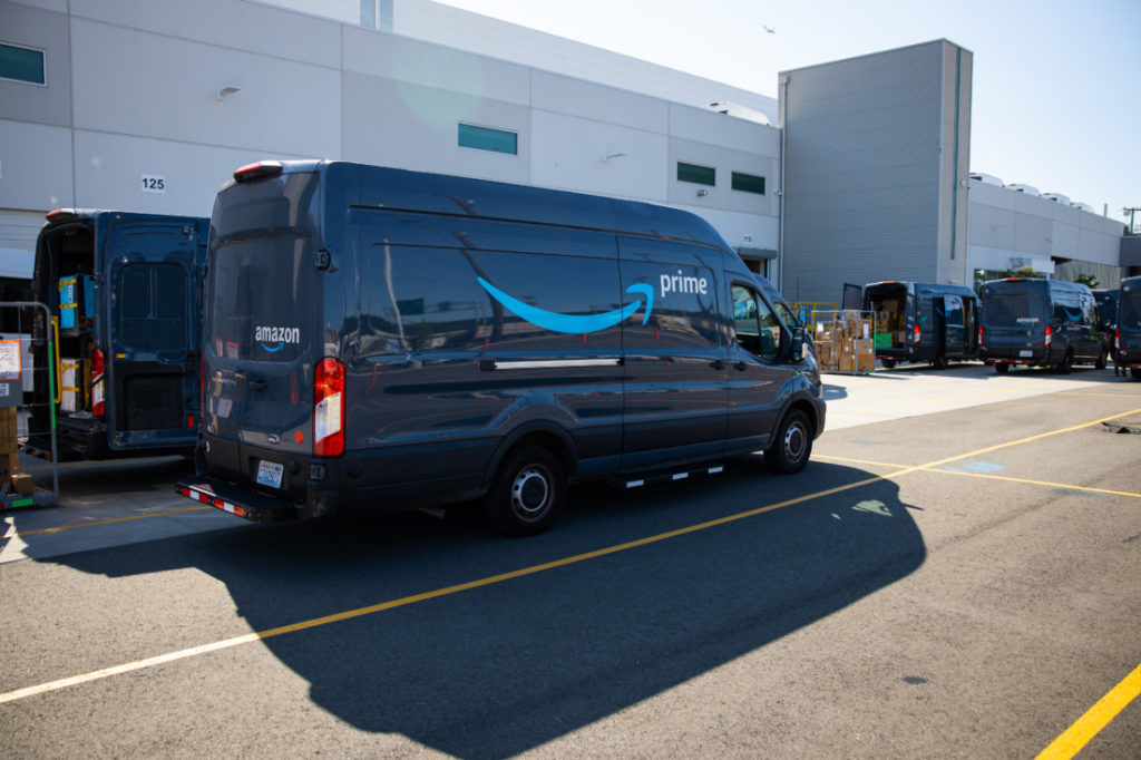 Deliveries will be made in company vans as well as by independent contractors using private vehicles. Photo courtesy of Amazon.