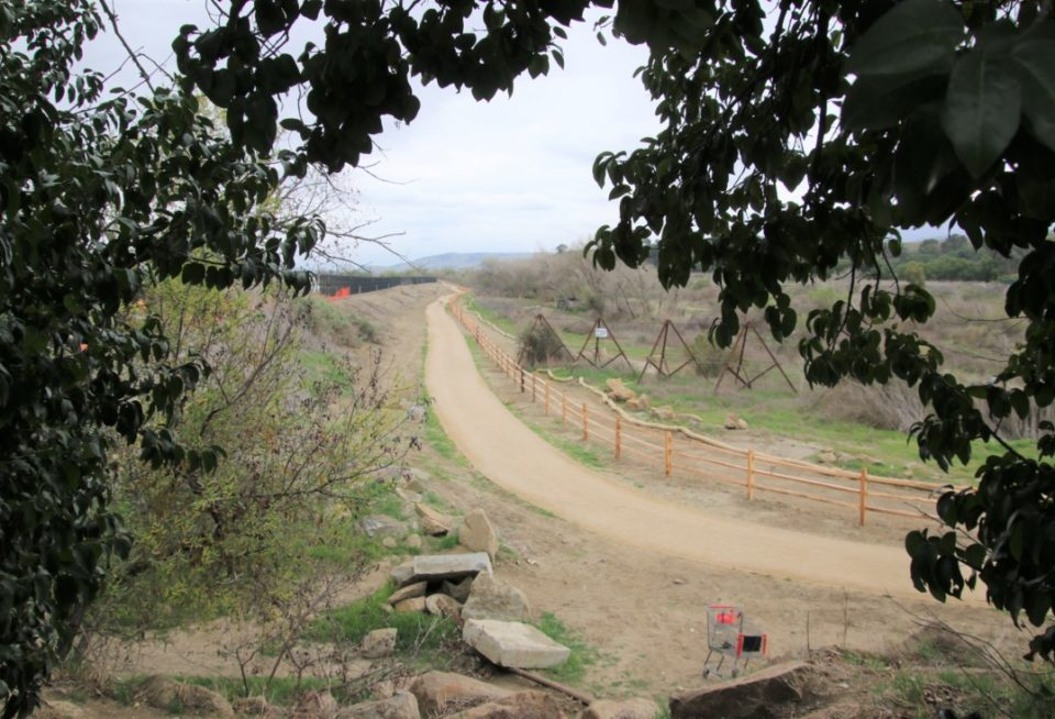 The Apricot Lane section of the River Parkway Trail will officially open with a ribbon cutting April 10. Photo by John Chadwell.