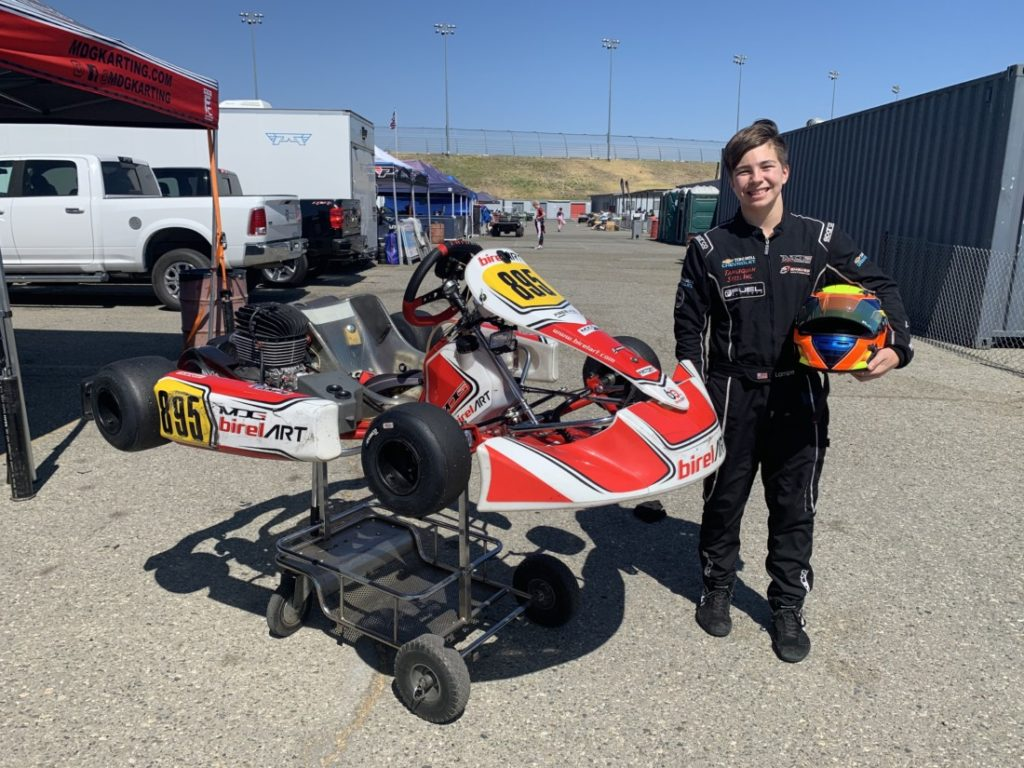 Ethan Lampe(#895) has been racing since he was seven. Now 14, he's moving from go-karts to Spec Miatas. Photo courtesy of Ethan Lampe.