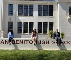 San Benito High School seniors Cathy Nguyen, Kiani McKeon and Eddie Schmidt. Photo by Olivia Madera.