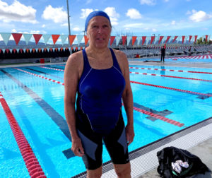 Glynis Crabb at the San Benito High School pool. Photo by Robert Eliason.