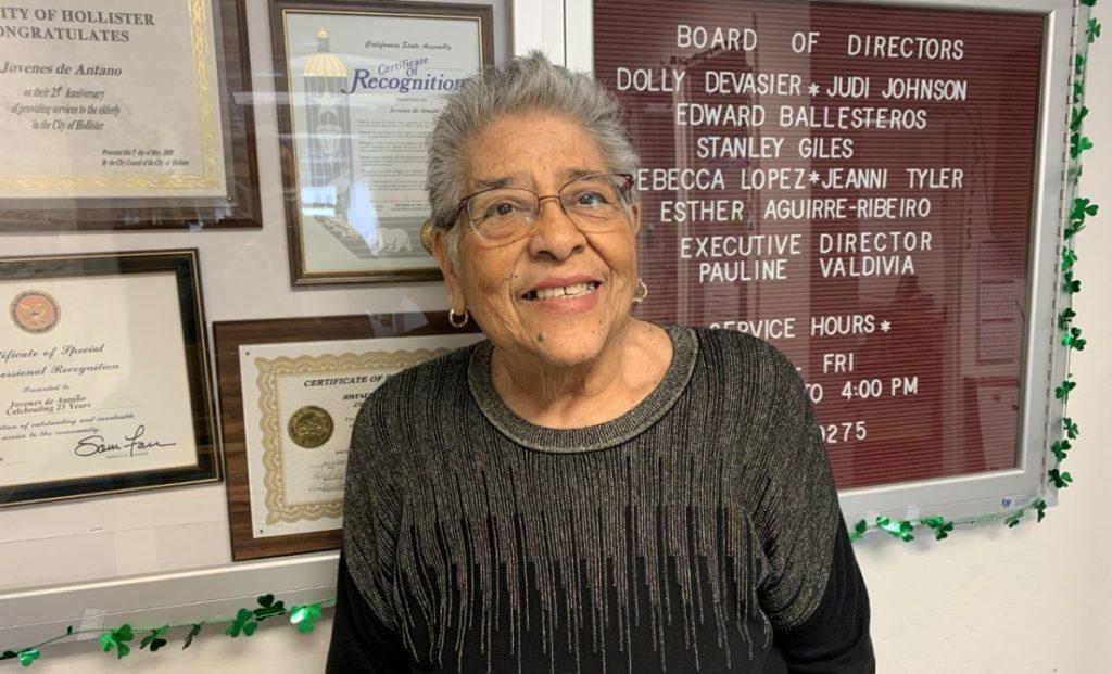 Pauline Valdivia, executive director of Jovenes de Antaño. Photo by Robert Eliason.