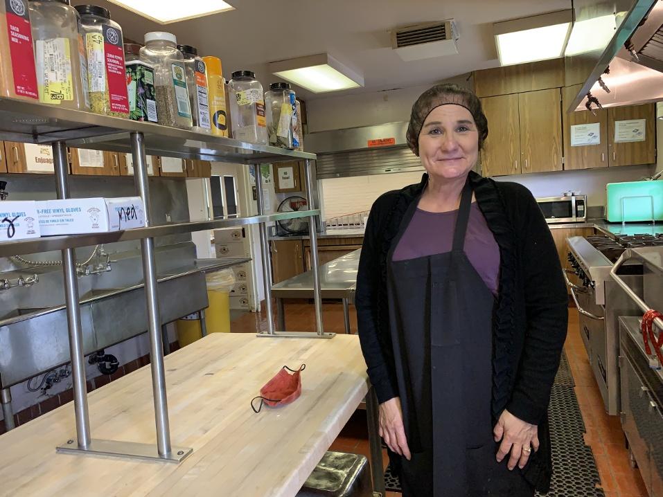Joanne Pilosi, kitchen manager. Photo by Robert Eliason.