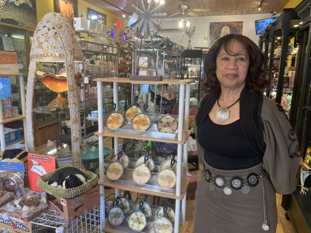 Patricia Bains, owner of Mrs. B's Z-Place. Photo by Robert Eliason.