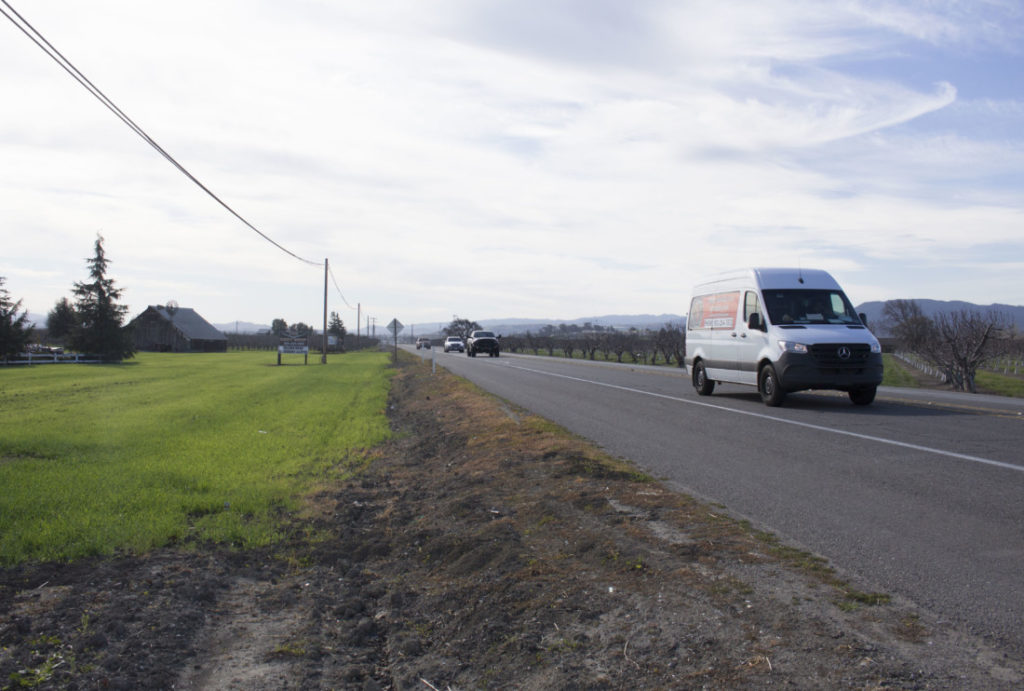 Highway 25 between San Felipe Road and Briggs Road. Photo by Noe Magaña.