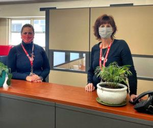 Samantha Rivas and Deborah Armstrong at the San Benito High School Wellness Center. Photo courtesy of Samantha Rivas.
