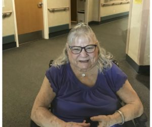 "Dorothy ""Dot"" Lemos one year into the lockdown at Mabie skilled nursing facility. Photo provided by Gae Miguel."