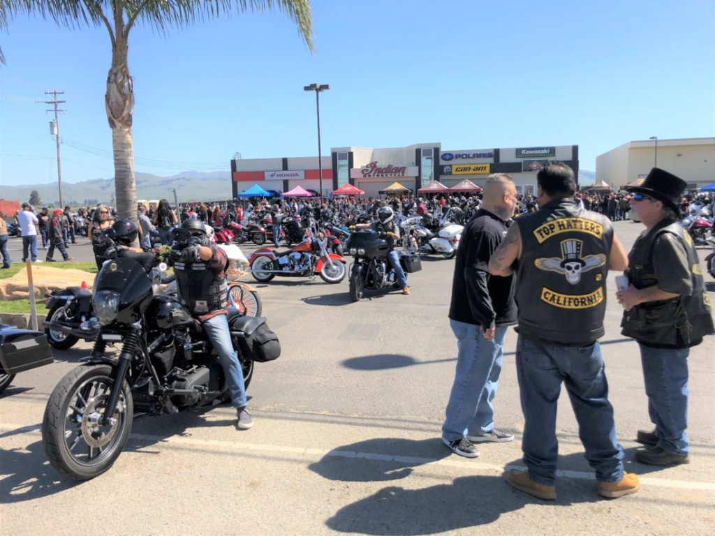 Bikers from around the country came to Hollister on March 28 to take part in the annual Bike Blessing. Photo by John Chadwell.