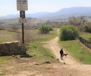 Hikers and bike riders can use the trails at the future site of the Regional Park near San Benito High School. Photo by John Chadwell.