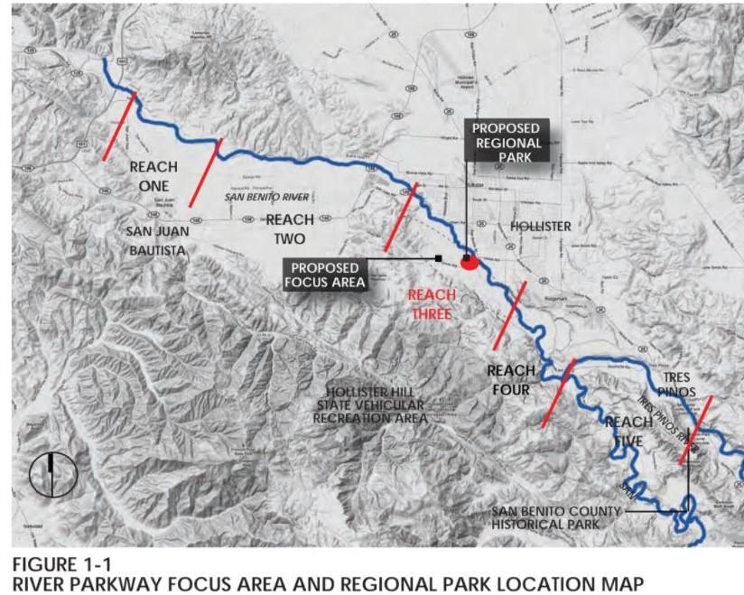 River Parkway Master Plan Illustration.