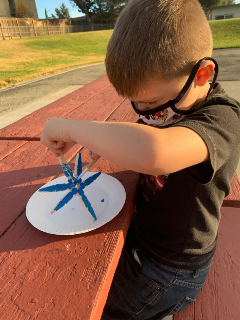 Second graders in the program are constantly keeping busy, creating crafts that fit the seasons. Photo courtesy of YMCA of San Benito County.