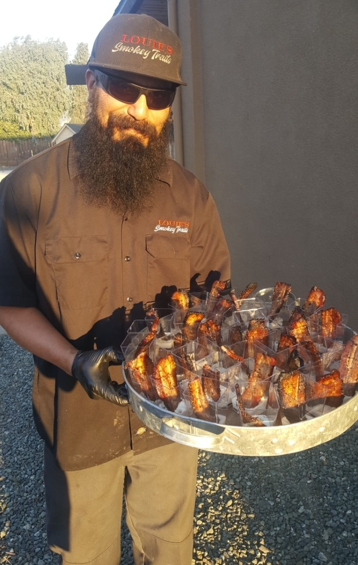 Bacon appetizers. Courtesy of Louie's Smokey Trails.