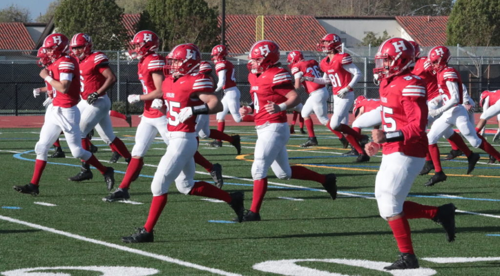 San Benito High School football team players, Photo by Robert Eliason