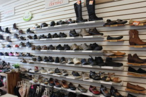 The store's selection of comfort shoes are anything but boring. They range from tennis shoes to classy heels. Photo by Jenny Mendolla Arbizu.