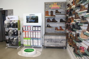 Aetrex Footwear and Orthotics are available to purchase, while the store's Aetrex 3-D Foot Scanning Machine gives information on a person's size, pressure and arch type. It can also determine custom orthotics for unique feet. Photo by Jenny Mendolla Arbizu.