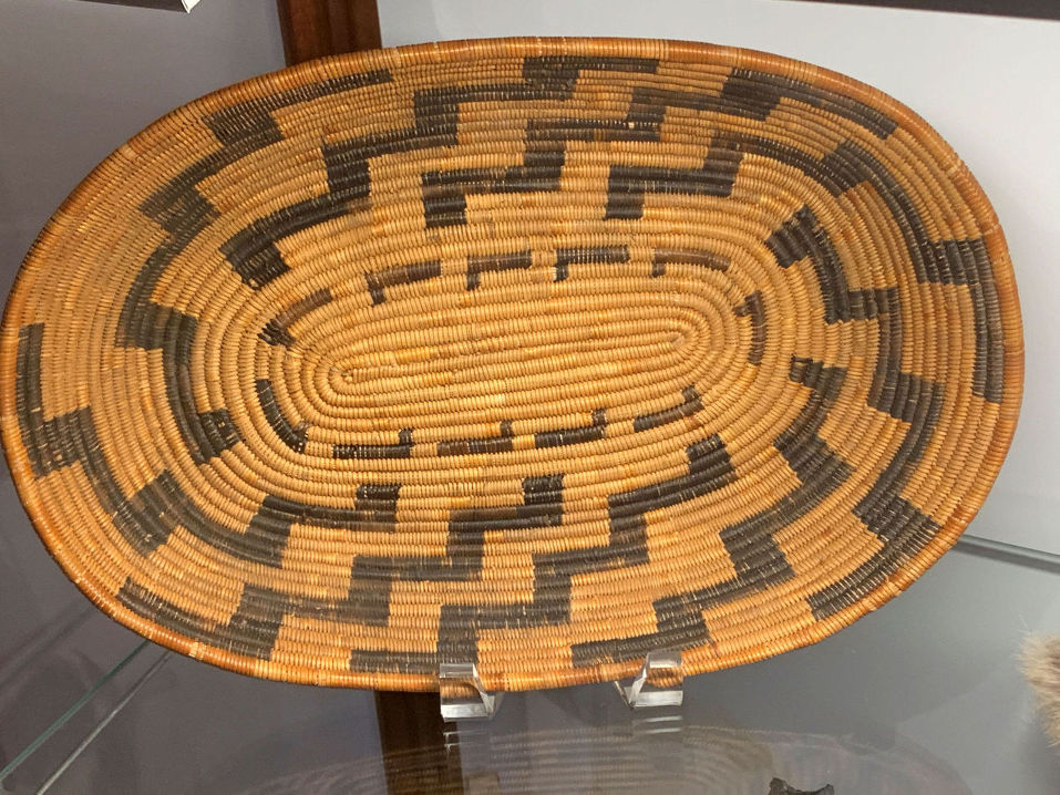 Indian basketry. Photo by Robert Eliason.