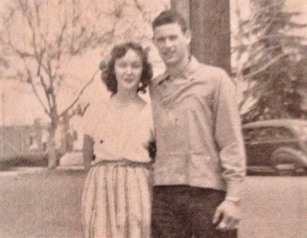 Kay and Ronald Harmon met when they were 14 at the dirt airstrip where Elmer Harmon taught locals how to fly. They would both become pilots. Photo courtesy of Kay Harmon.