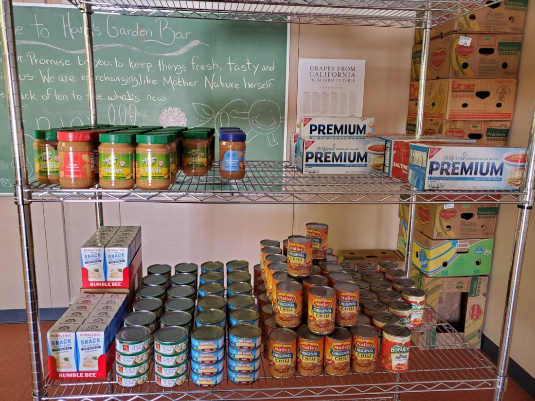 The new food pantry at San Benito High School, not yet fully stocked. Photo courtesy of Jim Lewis.