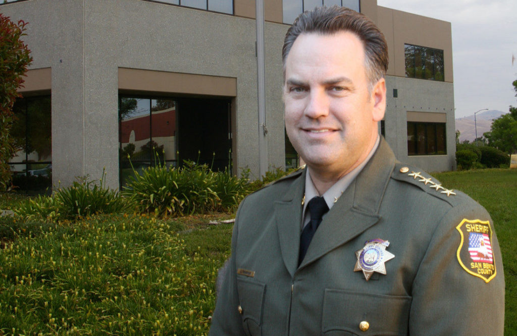Sheriff Darren Thompson. Photo from the San Benito County Sheriff's Department website.