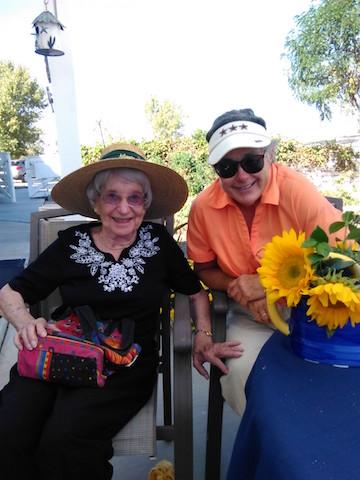 Vera Bradley Frass (left) grew up alongside Barbara Taddeo's (right) paternal family. Taddeo has considered Frass to be her