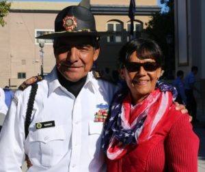 Bernie and Palmira Ramirez at a Hollister Veterans Day event. Photo courtesy of Hollister VFW Post 9242.