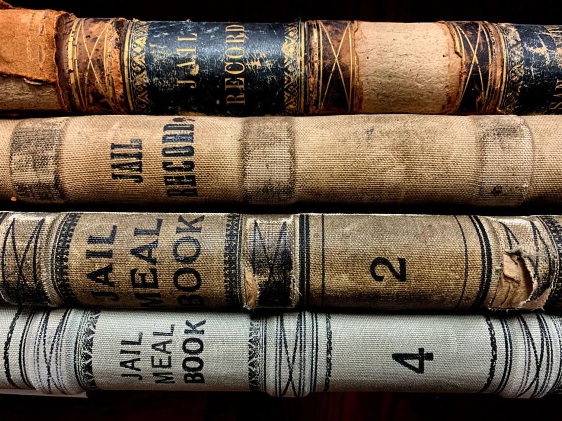 Jail record books. Photo by Robert Eliason.