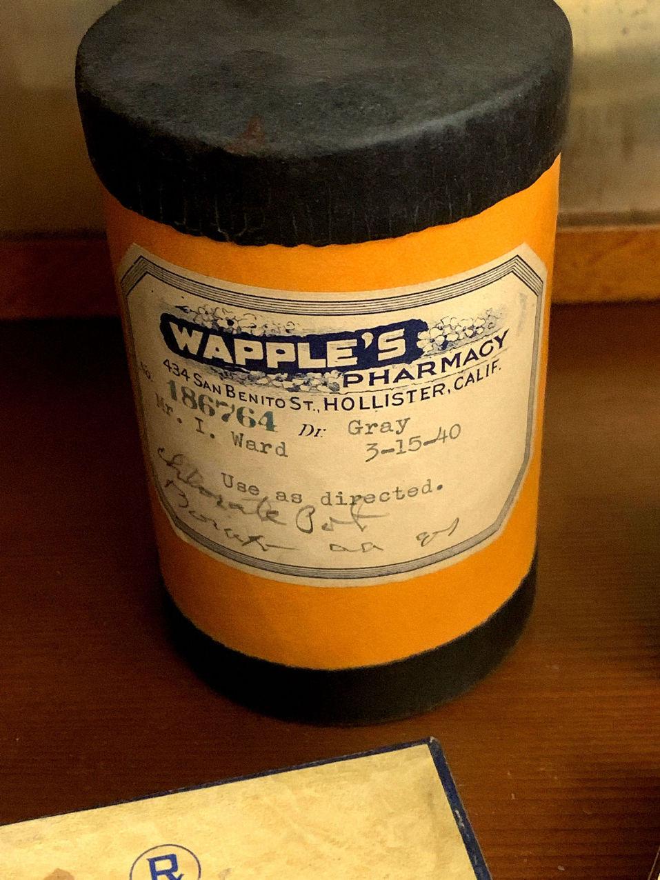 Prescription container. Photo by Robert Eliason.