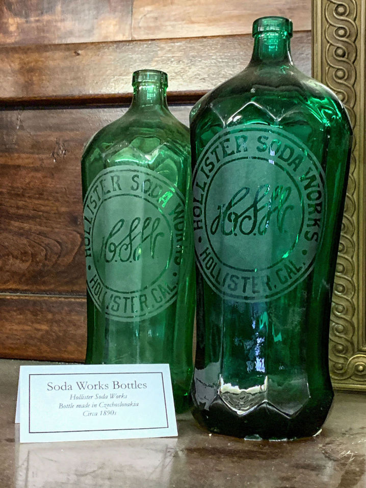 Hollister Soda Works bottles. Photo by Robert Eliason.