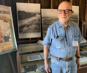San Benito County Historical Park docent Franz Schneider. Photo by Robert Eliason.