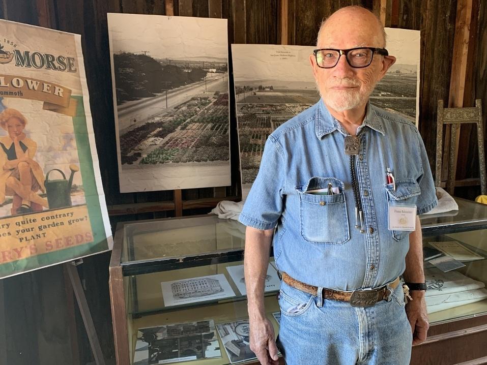 San Benito County Historical Park docent Franz Schneider. Photo by Robert Eliason.