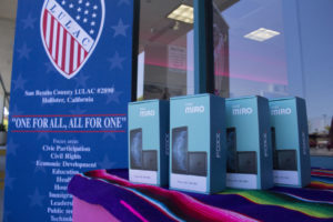 LULAC will approve each farm worker that gets a cell phone. Photo by Noe Magaña.