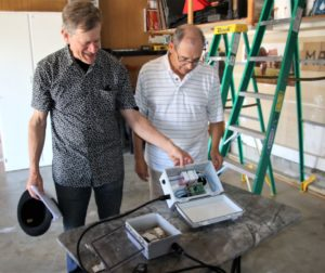Michael Cox asked his friend Leon Mayou to install a sensor in his Ridgemark home to help predict exact locations of pending earthquakes. Photo by John Chadwell.