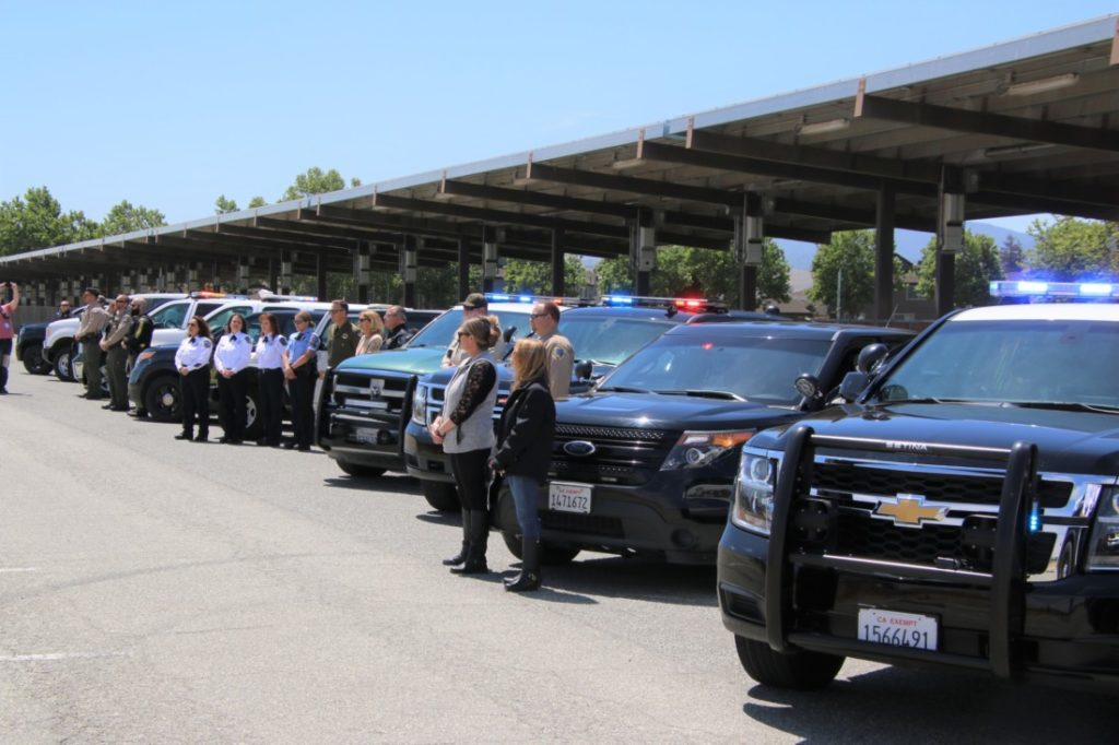 Officers from city, state and federal agencies honored those who died in the line of duty in 2020. Photo by John Chadwell.