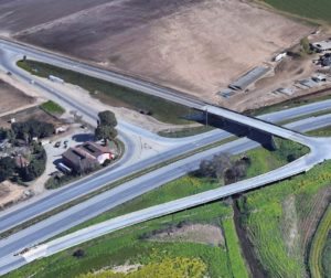 The 101/25 interchange was built in 1988 and meant to be temporary. When the new project is completed it will have taken 38 years. Google Earth photo.