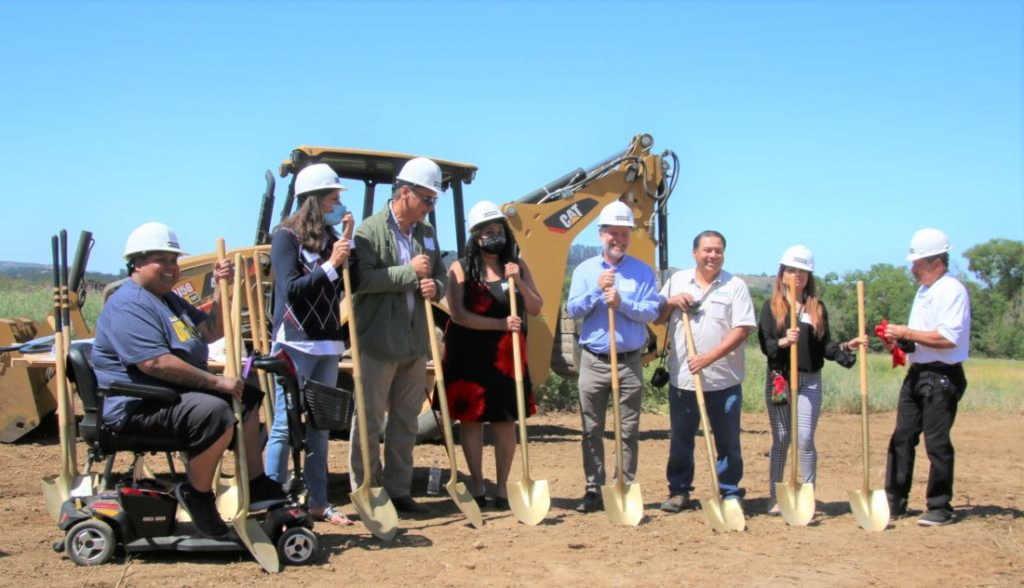 Groundbreaking for the Betabel project, now called the Betabel Road Charity took place June 1. Photo by John Chadwell.