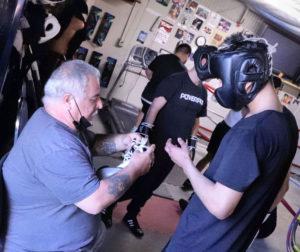 Zeke Lopez at Bulldog Boxing Gym. Photo by Robert Eliason.