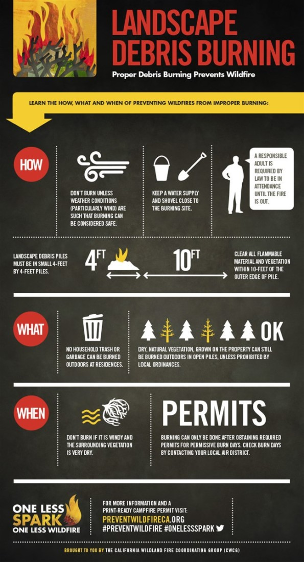 Debris Safety. Infographic courtesy of CalFire.
