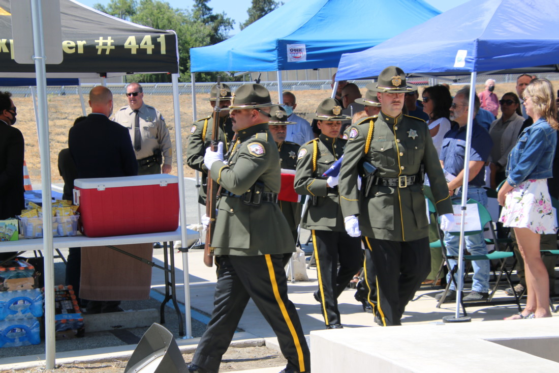 The newly formed Sheriff's Honor Guard