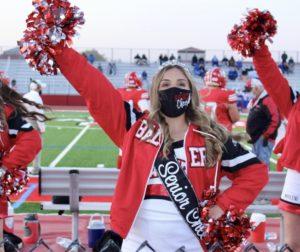 Sofia Lemos cheering at a home football game. Photo courtesy of Sofia Lemos.