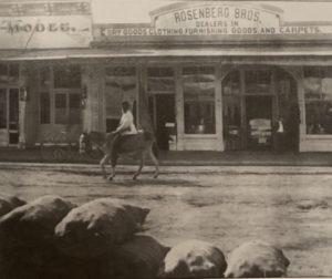 Ishmael Williams riding his donkey. Photo courtesy of the San Benito County Historical Society.