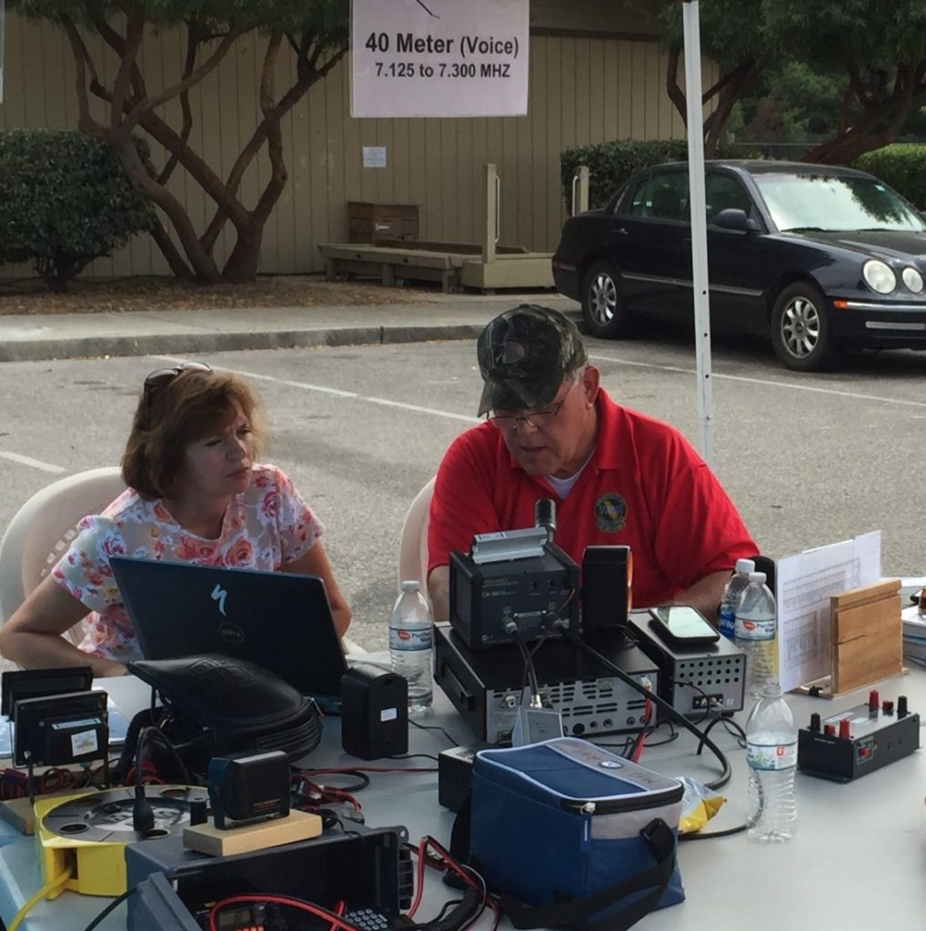 File Photo: Jack Kirk, Sr. of Hollister and Stephanie Shoquist of Gilroy use a radio during ARRL Field Day. Photo courtesy of Heatherly Takeuchi.