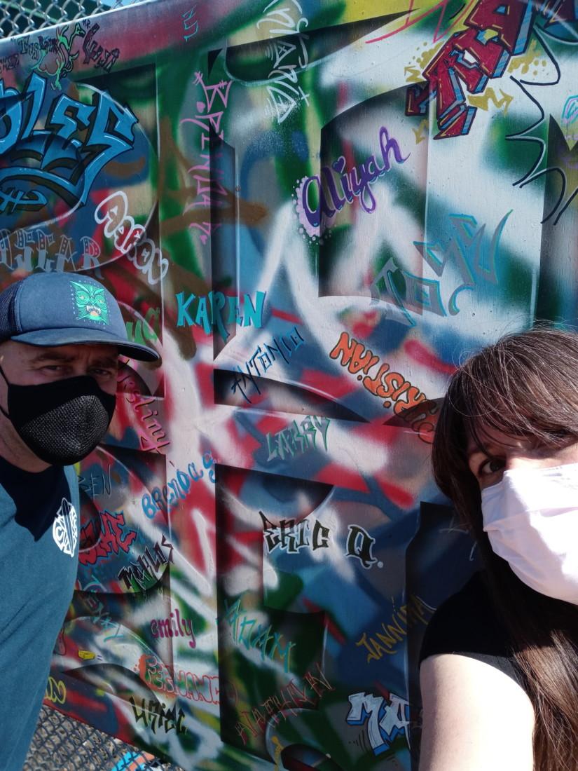Dreams Project teaching artists, Heidi and Sylas Jumper. Photo courtesy of Heidi Jumper.